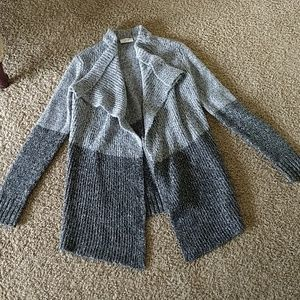 Open front shawl cardigan